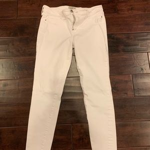 Abercrombie and Fitch white jeans!